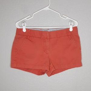 J. Crew Pumpkin Colored Chino Shorts